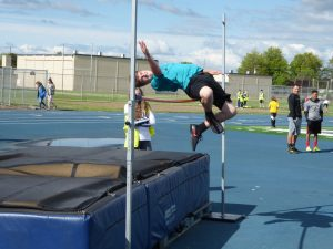 High Jump at Middle School Track Meet