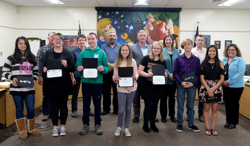 School Board honors Memorial Middle School All-Stars