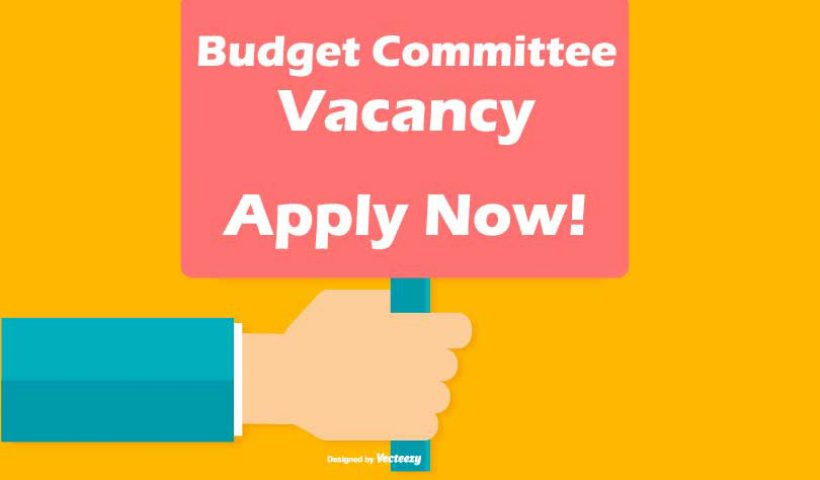 Budget Committee Vacancy. Apply Now!