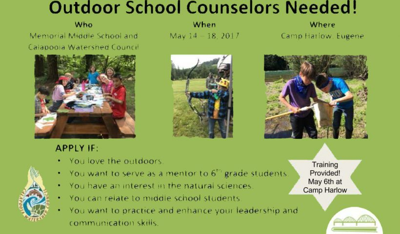 Outdoor School Counselors Needed!